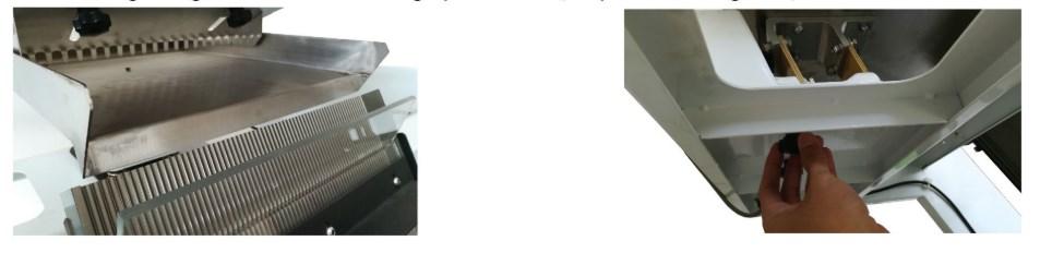 Căn và điều chỉnh máng rung máy tách màu