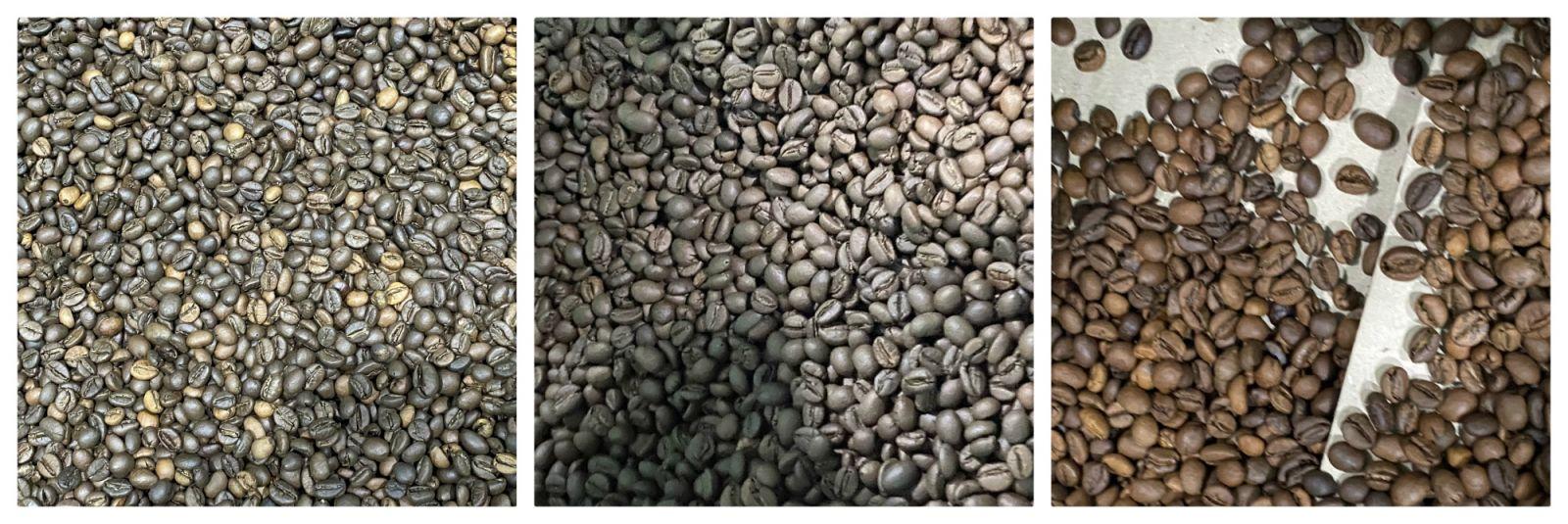 Kết quả máy tách màu cà phê rang wesort