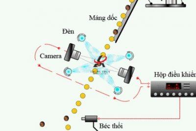 Nguyên lý hoạt động của máy tách màu (máy bắn màu) các loại hạt
